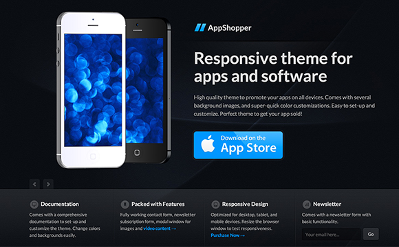 30 mobile app landing page templates designm pronofoot35fo Choice Image