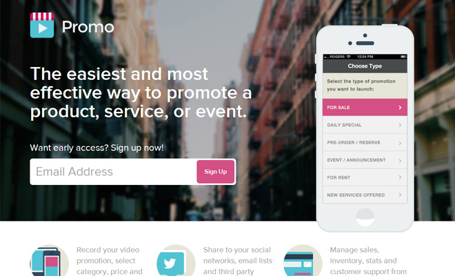 promo iphone app ui design homepage layout