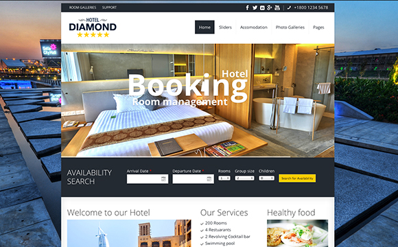 8 best travel and hotel bootstrap templates download free for Ideal hotel design booking
