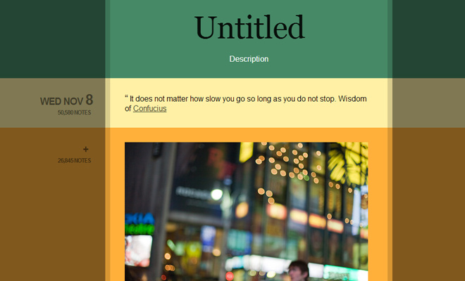 green color shades blog tumblr theme