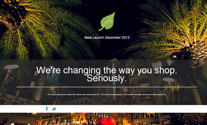 get leaf started homepage layout startup shopping products