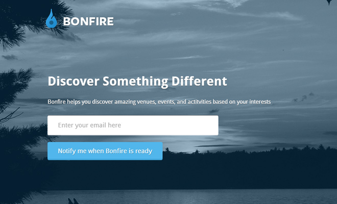 join bonfire website startup beta register email