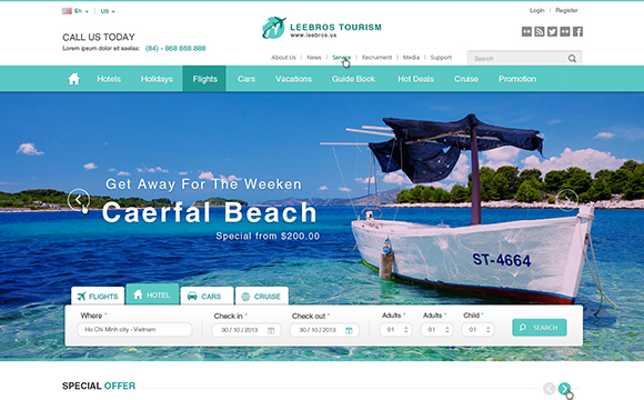 25f3a14b48eb49 22 Hotel and Resort Website Themes - DesignM.ag