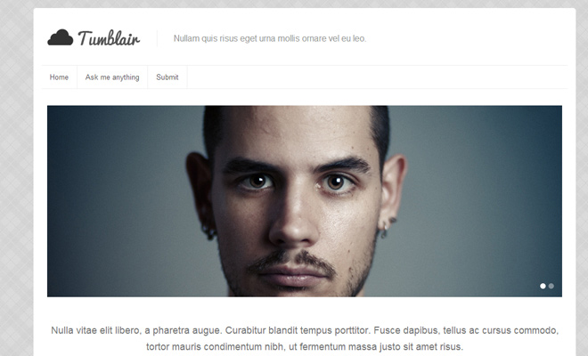 tumblair premium tumblr blog theme design