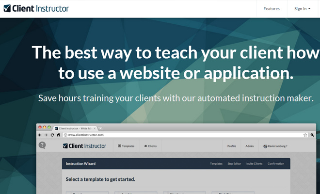 program software client instructor homepage startup