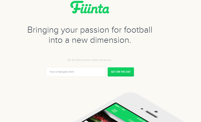 fiiinta football iphone app design homepage