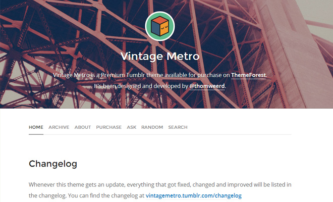 vintage metro tumblr blog design premium