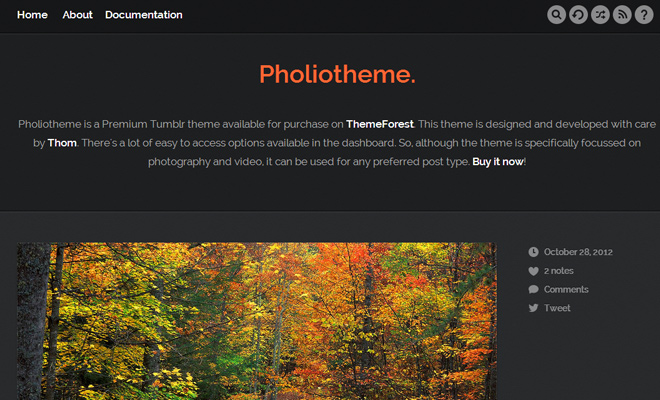 pholiotheme photo design tumblr blog