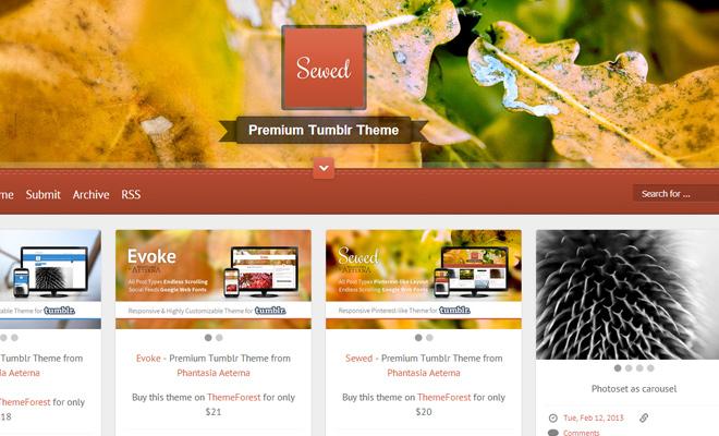 sewed banner blog sweing tumblr theme premium