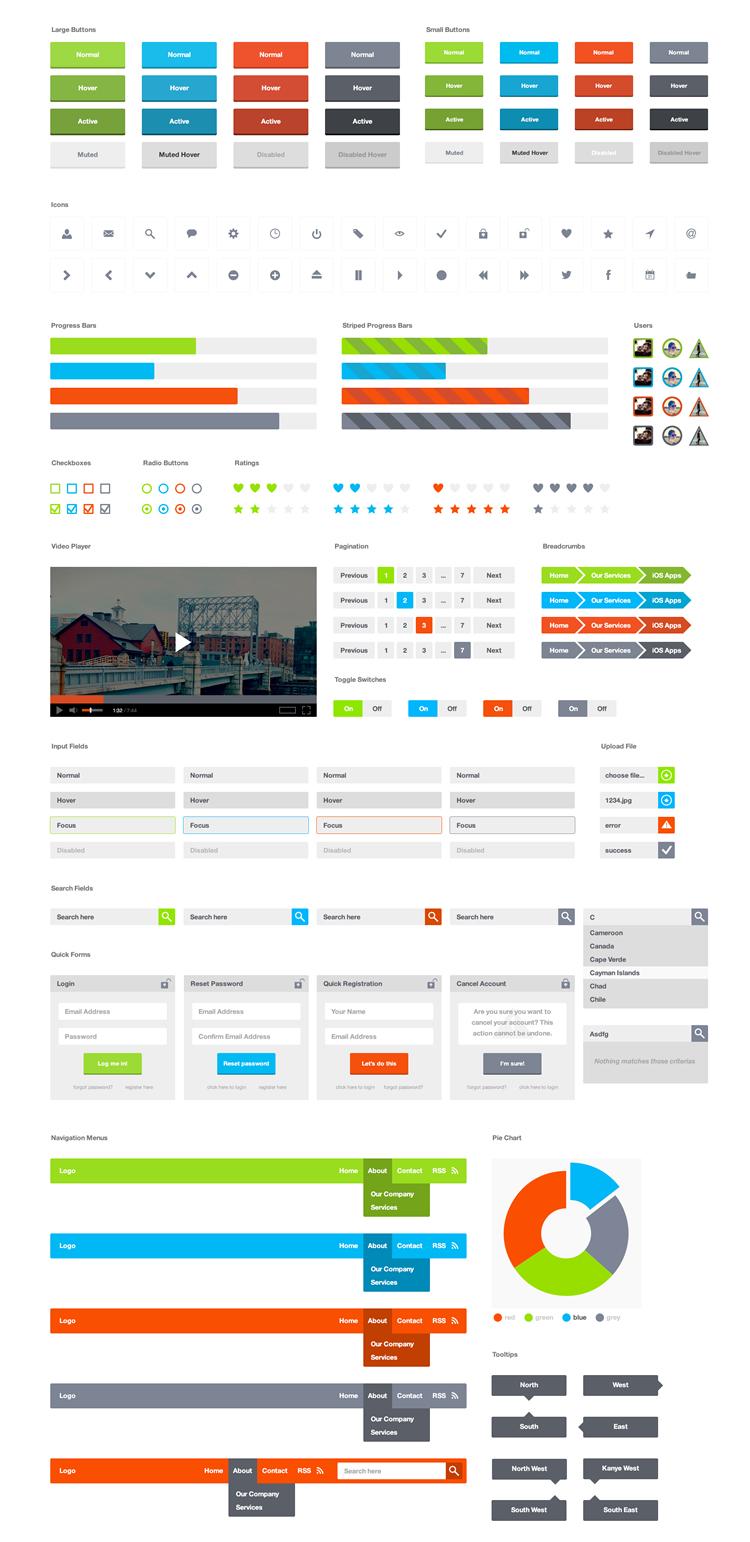 FlatPix UI Kit