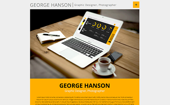 35 virtual business card    resume website themes