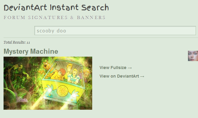 deviantart api instant search howto jquery ajax php tutorial