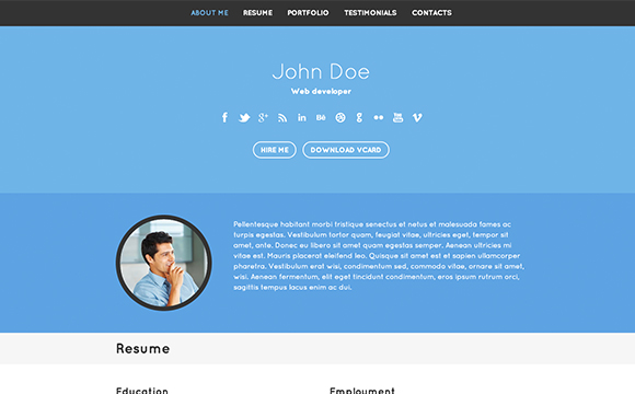 35 virtual business card resume website themes designm cheaphphosting