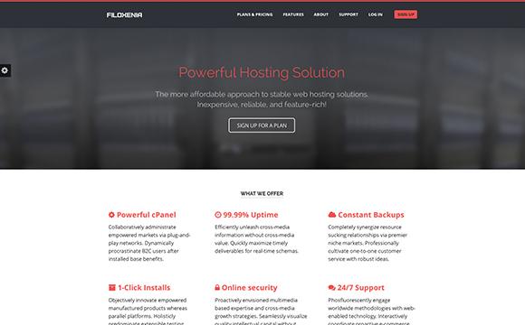 25 Web & File Hosting Themes - DesignM.ag