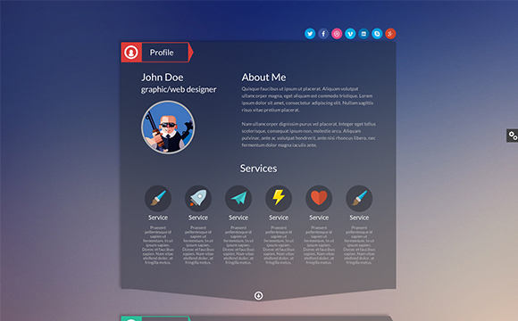 35 virtual business card resume website themes designm fbccfo Image collections