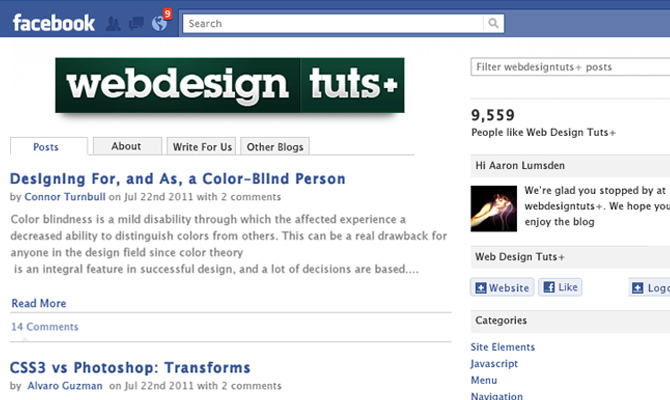 design code howto tutorial integrated facebook application