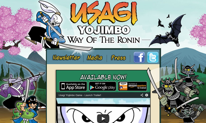 usagi yojimbo karate game inspiration website layout