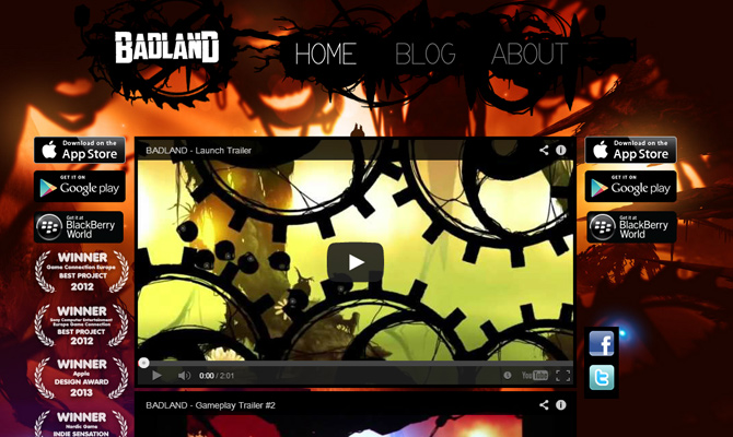 red dark machines badland website layout inspiring homepage