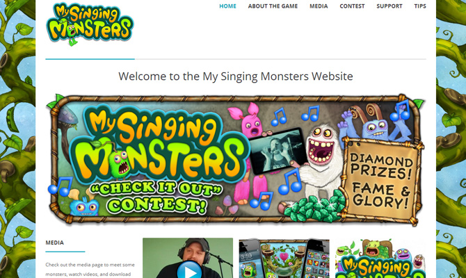 my singing monsters website colorful iphone android game
