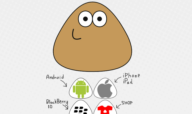 poume pou mobile game smartphone website simple clean
