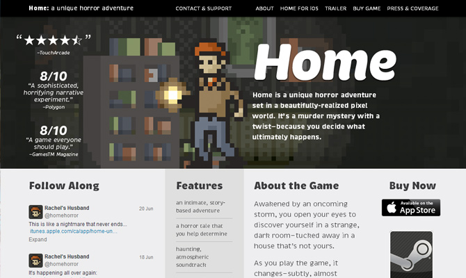 benjamin rivers horror adventure mobile game home website