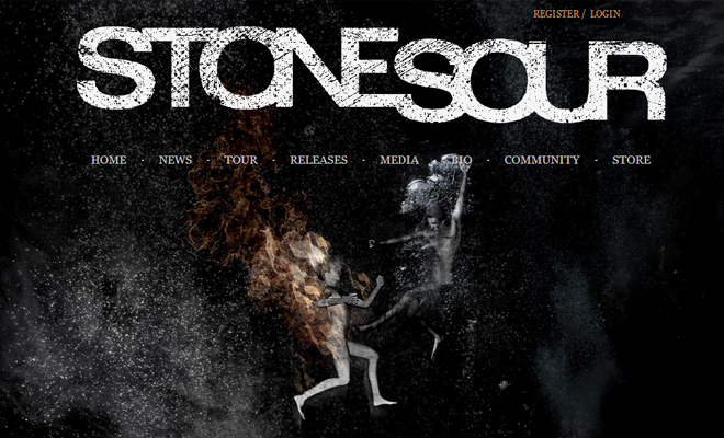 stone sour band website layout
