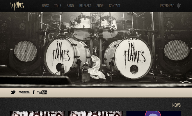 in flames death metal band website