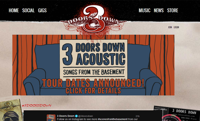 3 doors doors band website