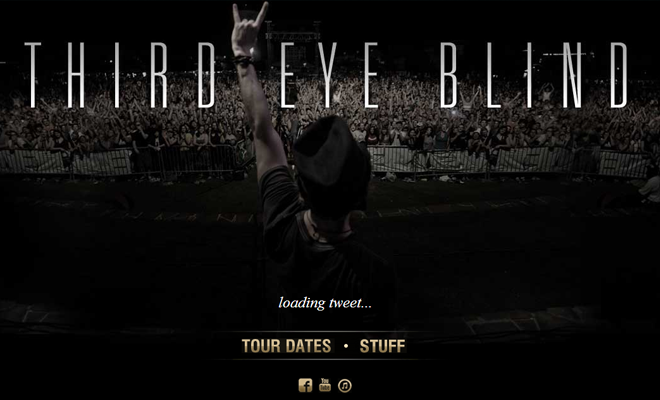 third eye blind band website layout