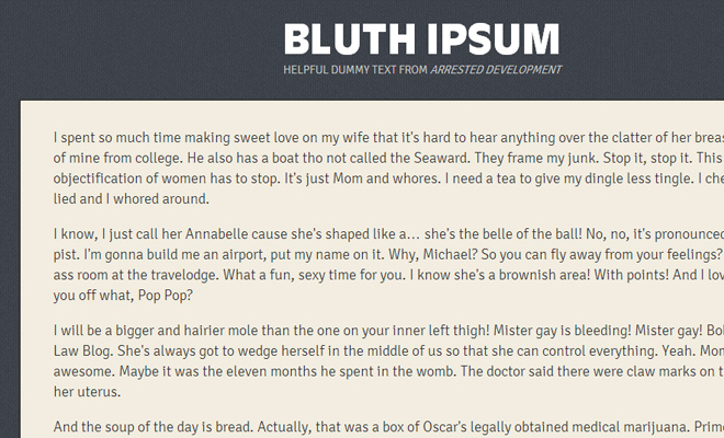 bluth ipsum arrested development generator