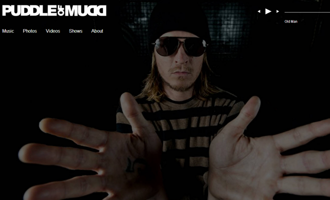 puddle of mudd website design
