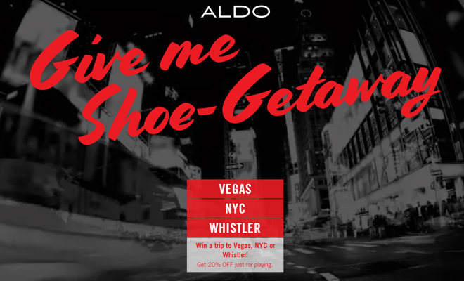 aldo shoe getaway fullscreen video landing page