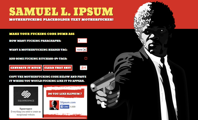 pulp fiction movie text generator lorem ipsum