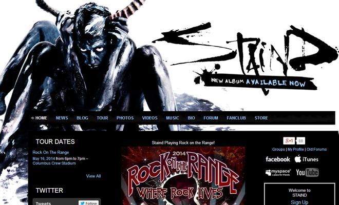 staind alternative rock band website