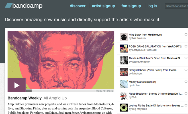 bandcamp homepage bands music website network