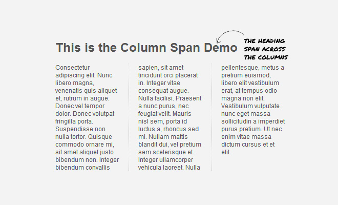 css3 multiple columns layout tutorial howto
