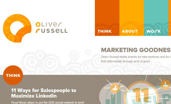 oliver russell personal website portfolio navigation