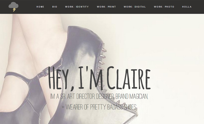 claire baxter website navigation menu inspiring