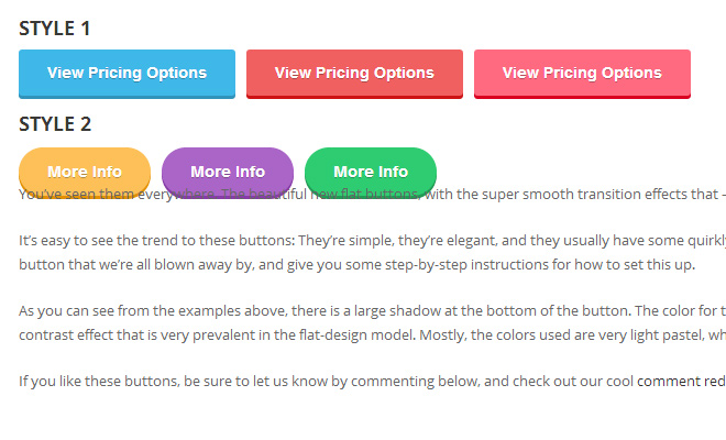 css3 flat gradient button design howto coding