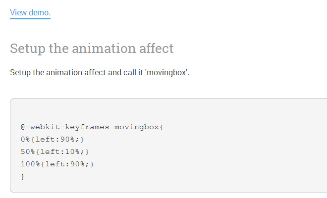 experiment new css3 keyframes howto animate elements