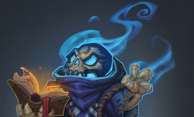 skeleton wizard concept artwork design