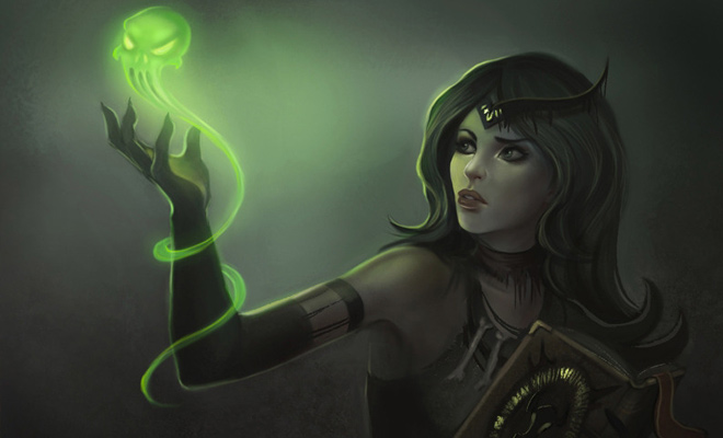 necromanceress fantasy digital artwork