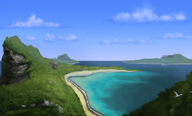 water islands concept artwork landscape
