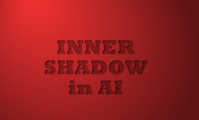 adobe illustrator inner shadow effect