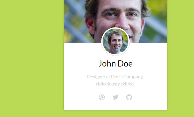 profile box widget open source css