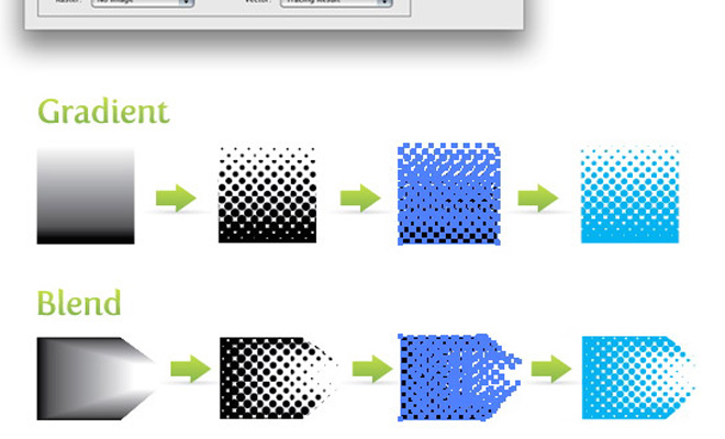 create halftone pattern design illustrator