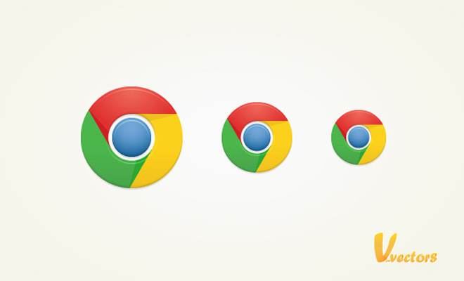google chrome icon illustrator vector