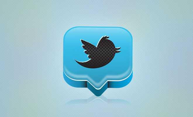 3d tweet twitter icon vector design gradient tutorial