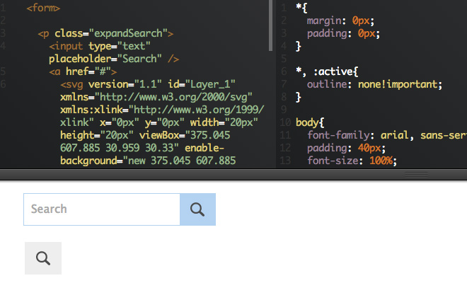 expanding simple html css js search field