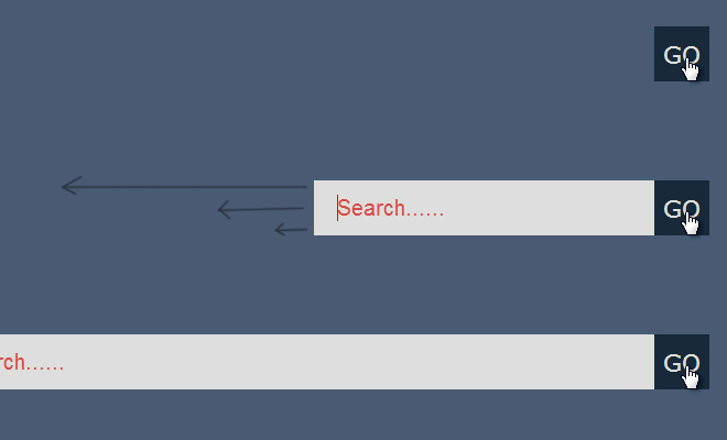 jquery expanding search bar tutorial expanded